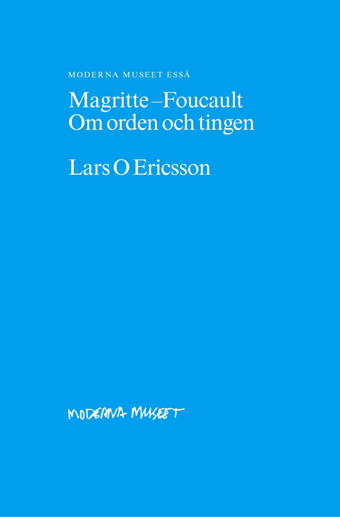 Thumbnail for Magritte – Foucault. Om orden och tingen